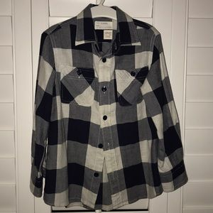 Jcrew Crewcuts navy grey plaid shirt